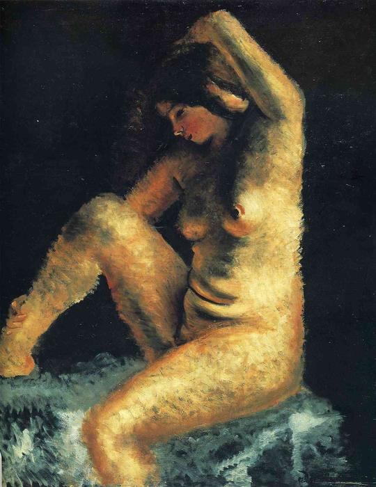 The beautiful model, Oil On Canvas by André Derain (1880-1954, France)