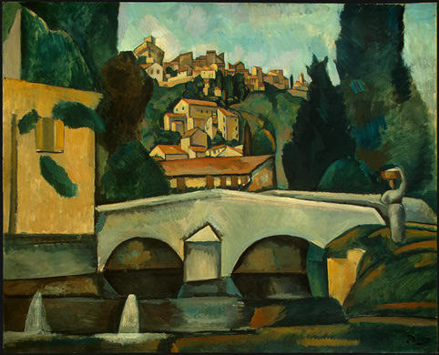 The Old Bridge, Oil by André Derain (1880-1954, France)