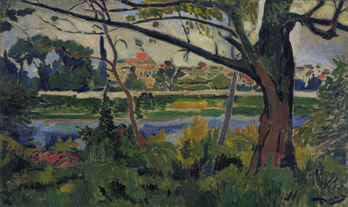 The Seine at Chatou, Oil by André Derain (1880-1954, France)