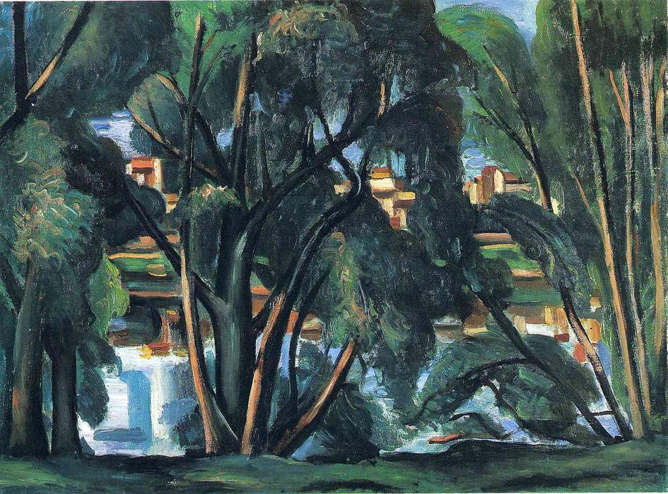 Trees on the Banks of the Seine, Oil On Canvas by André Derain (1880-1954, France)