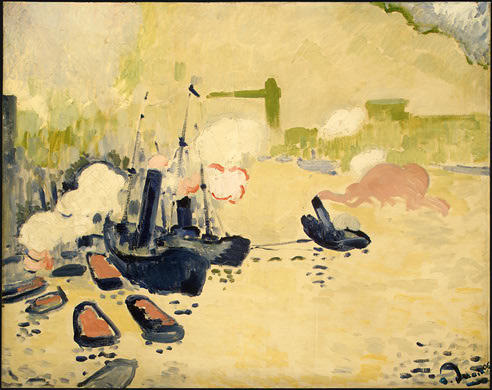 View of the Thames, Watercolour by André Derain (1880-1954, France)