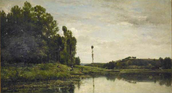 Banks of the Oise 2 by Charles François Daubigny (1817-1878, France) | Museum Quality Reproductions | WahooArt.com