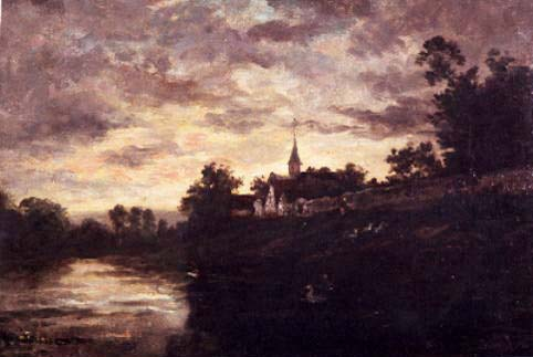 Banks of the Oise by Charles François Daubigny (1817-1878, France) | Art Reproduction | WahooArt.com
