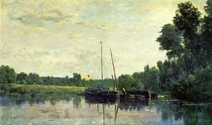 Charles François Daubigny - Boats on the Oise