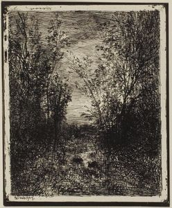 Charles François Daubigny - Brook in the Clearing