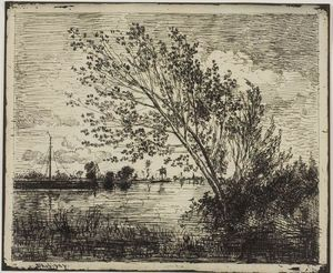 Charles François Daubigny - Clump of Alder Trees