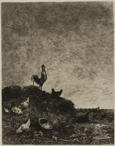 Charles François Daubigny - Dawn (The Cock's Crow)