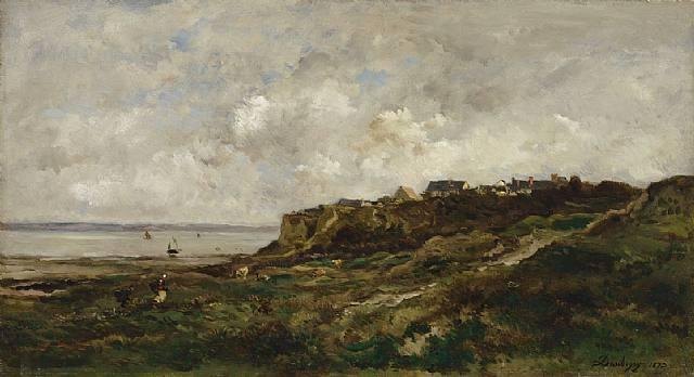 Low tide at Villerville by Charles François Daubigny (1817-1878, France) | Museum Quality Reproductions | WahooArt.com