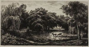 Charles François Daubigny - Marsh with Stags