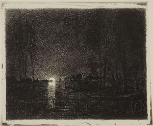 Charles François Daubigny - Night Effect