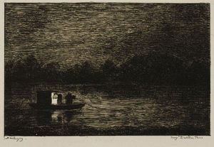 Charles François Daubigny - Night Voyage (The Fishing Net)