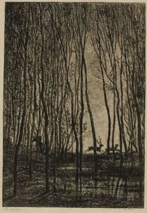 Charles François Daubigny - Stags in the Woods