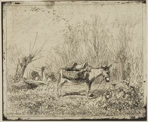 Charles François Daubigny - The Donkey in the Meadow