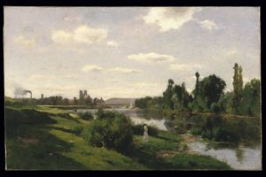 Charles François Daubigny - The River Seine at Mantes