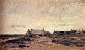 Charles François Daubigny - The Village of Kerity in Britain