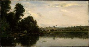 Charles François Daubigny - Washerwomen at the Oise River near Valmondois