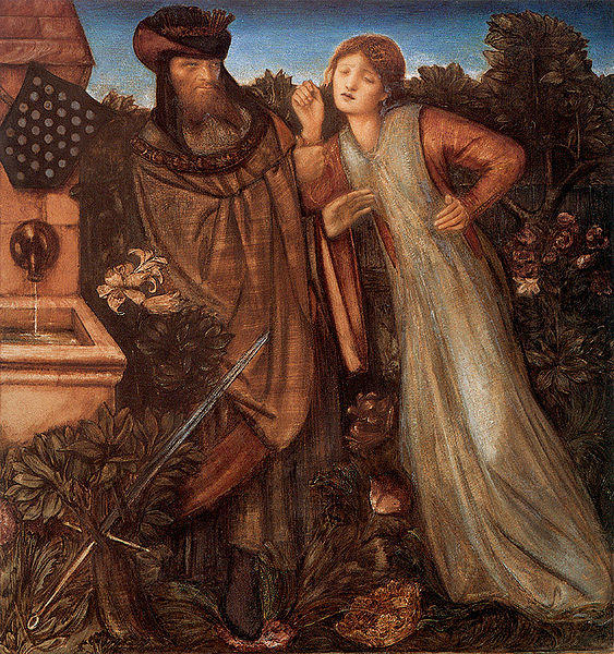 King Mark and La Belle Iseult by Edward Coley Burne-Jones (1833-1898, United Kingdom) | Paintings Reproductions Edward Coley Burne-Jones | WahooArt.com