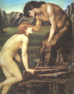 Edward Coley Burne-Jones - Pan and Psyche