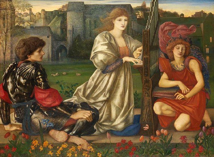 Song of Love, Oil by Edward Coley Burne-Jones (1833-1898, United Kingdom)