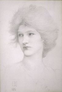 Edward Coley Burne-Jones - Study for the Queen in Death of Arthur