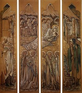 Edward Coley Burne-Jones - The Nativity, For Stained Glass At St. David-s Church, Hawarden