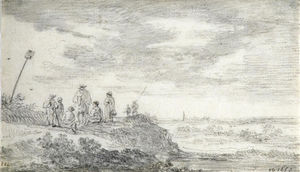 Jan Van Goyen - Dune Landscape with Figures