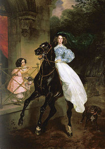 Karl Pavlovich Bryullov - Girl riding a horse