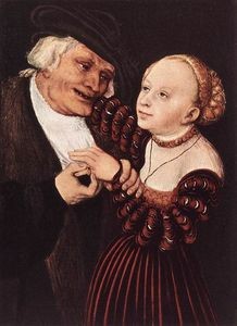 Lucas Cranach The Elder - Old Man and Young Woman