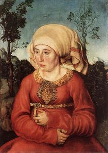 Lucas Cranach The Elder - Portrait of Frau Reuss