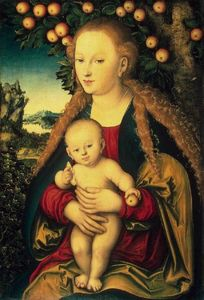 Lucas Cranach The Elder - Virgin and Child under an Apple Tree