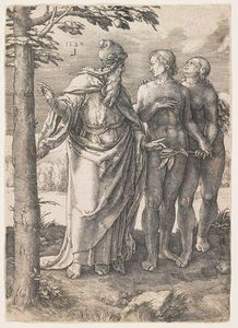 Lucas Van Leyden - The Story of Adam and Eve, The First Prohibition