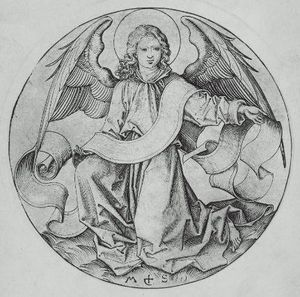 Martin Schongauer - The Angel of Saint Matthew