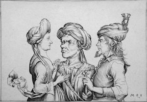 Martin Schongauer - The Thre men