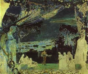 Mikhail Vrubel - Italy. Night in Naples