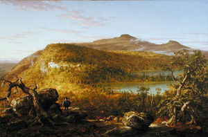 Thomas Cole - A View of the Two Lakes and Mountain House, Catskill Mountains