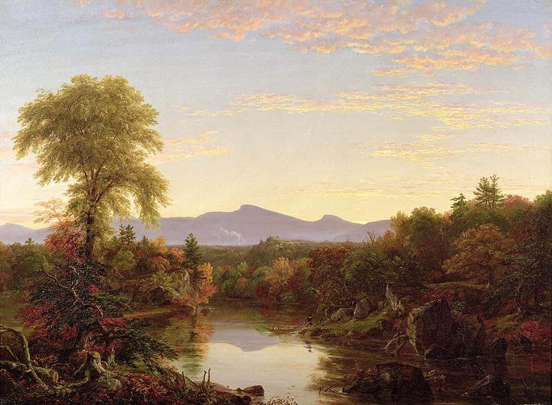 Catskill Creek, New York by Thomas Cole (1801-1848, United Kingdom) | Famous Paintings Reproductions | WahooArt.com