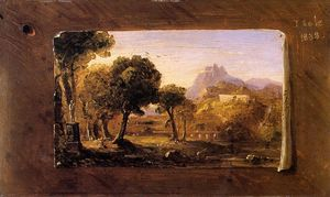 Thomas Cole - Study for Dream of Arcadia