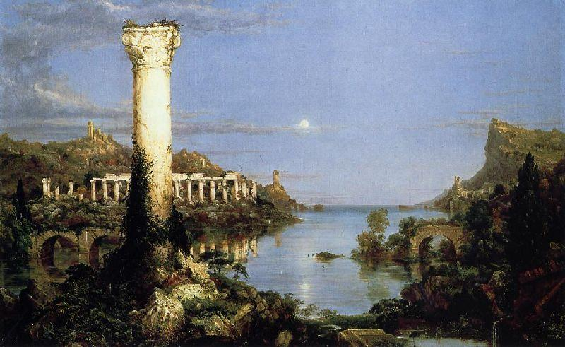 The Course of Empire, Desolation by Thomas Cole (1801-1848, United Kingdom) | Reproductions Thomas Cole | WahooArt.com
