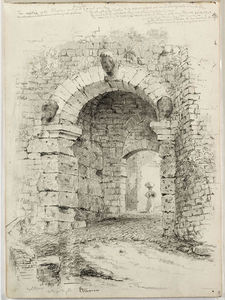Thomas Cole - Volterra, Antique Gate, Etruscan