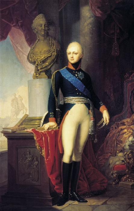 Alexander I of Russia by Vladimir Lukich Borovikovsky (1757-1825) | Famous Paintings Reproductions | WahooArt.com