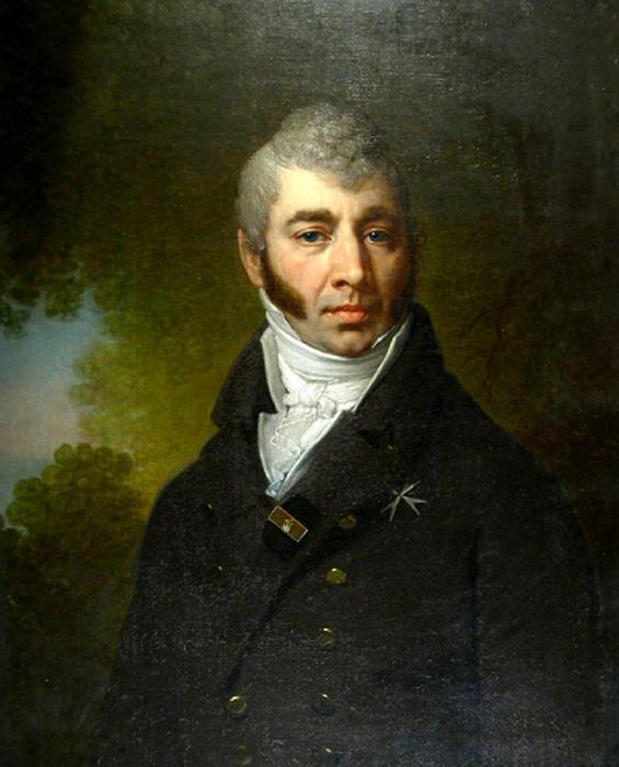 Portrait of an unknown, Oil by Vladimir Lukich Borovikovsky (1757-1825)