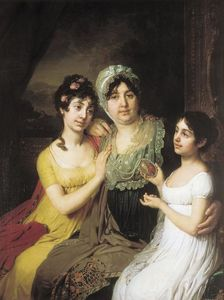 Vladimir Lukich Borovikovsky - Portrait of Countess A. I. Bezborodko with Her Daughters