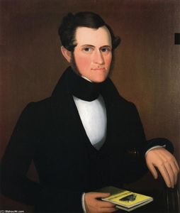 Ammi Phillips - A Gentleman Holding a Book on Agriculture