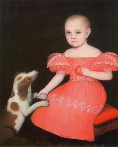Ammi Phillips - Child in Pink with Her Spaniel