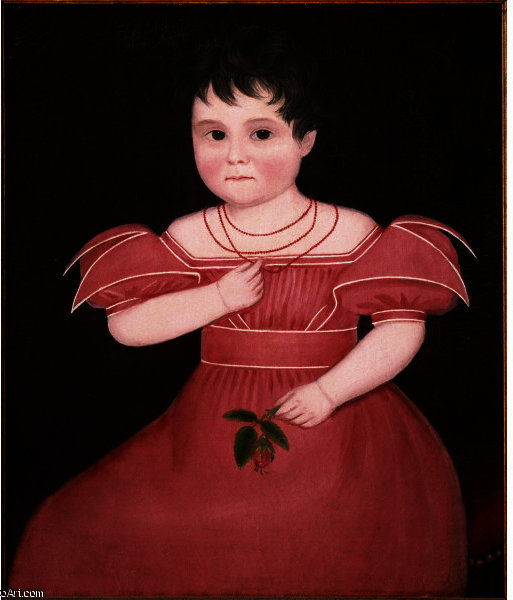 Girl in Pink by Ammi Phillips (1788-1865, United States) | Museum Quality Reproductions | WahooArt.com
