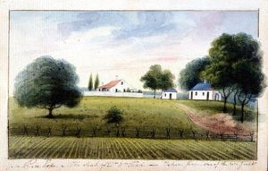 Charles Fraser - Rice Hope. The Seat of Dr, William Read, Taken from One of the Rice Fields