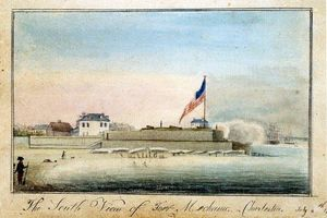 Charles Fraser - The South View of Fort Mechanic, Charleston, July 4th 1796