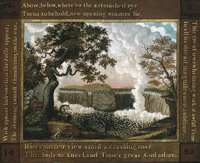 Order Paintings Reproductions | The Falls of Niagara, 1825 by Edward Hicks (1780-1849, United States) | WahooArt.com
