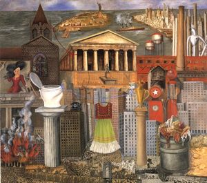Frida Kahlo - My Dress Hangs There - (Famous paintings reproduction)