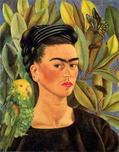 Frida Kahlo - Self-Portrait with Bonito